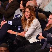 Kelly Bensimon attends the Utah Jazz vs New York Knicks game at Madison Square Garden on November 14 2014 in New York City