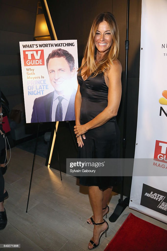 Kelly Bensimon Attends TV Guide Magazine Celebrates New Cover Star Seth Meyers At The Living Room