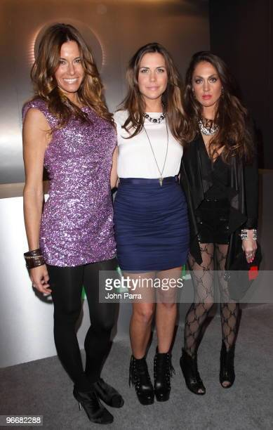 Kelly Bensimon Erin Lucas and Roxy Olin attend the QVC Style Party to Kick Off MercedesBenz Fashion Week in Bryant Park on February 13 2010 in New...