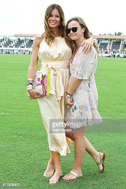Kelly Bensimon is sighted with her daughter Ted during the Easter Brunch at the Coco Polo Lounge on March 27 2016 in Wellington Florida