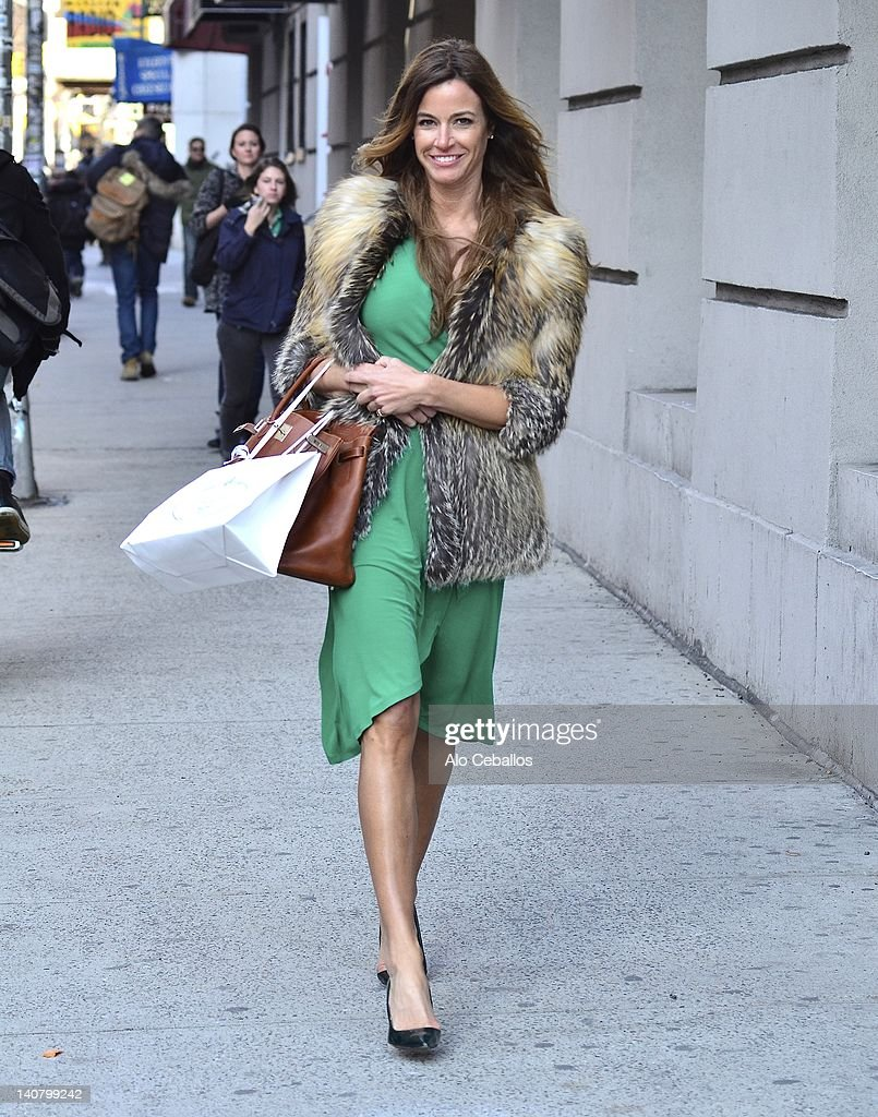 Kelly Bensimon sighting on the streets of Manhattan on March 6, 2012 in New York City.