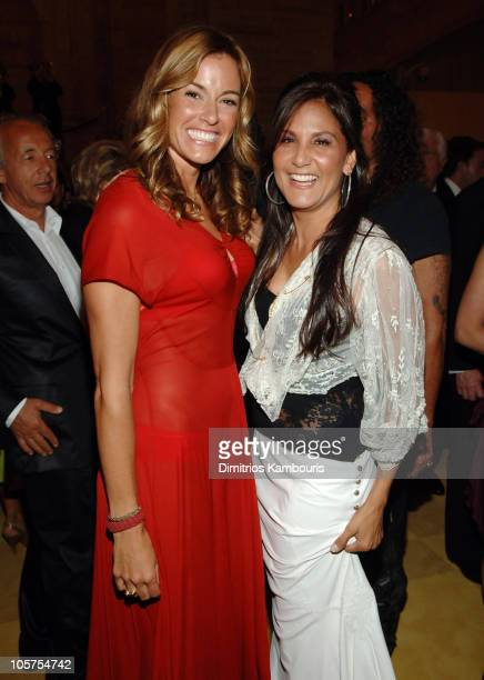 Kelly Bensimon with Laurie Stark of Chrome Hearts during 2005 CFDA Fashion Awards Inside Arrivals at New York Public Library in New York City New...
