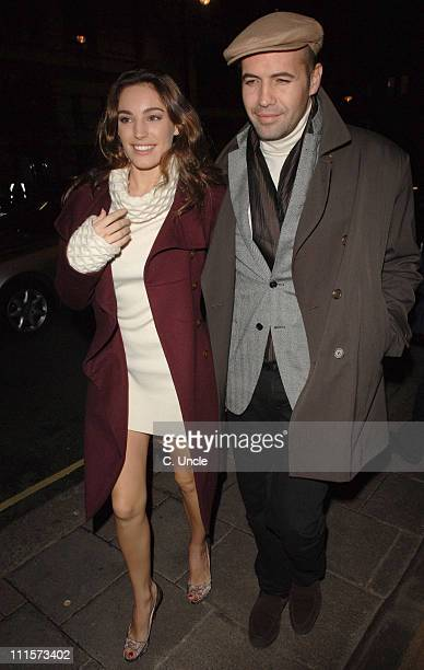 Kelly Brook and Billy Zane during Kelly Brook and Billy Zane Sighting at the Ivy December 5 2006 at The Ivy Restaurant in London Great Britain
