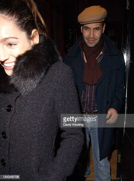Kelly Brook and Billy Zane during 'Six Dance Lessons in Six Weeks' After Party at Mary Wong's in London Great Britain