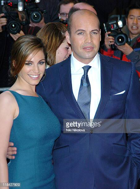 Kelly Brook and Billy Zane during 'Three' London Premiere Outside Arrivals at Odeon West End in London Great Britain