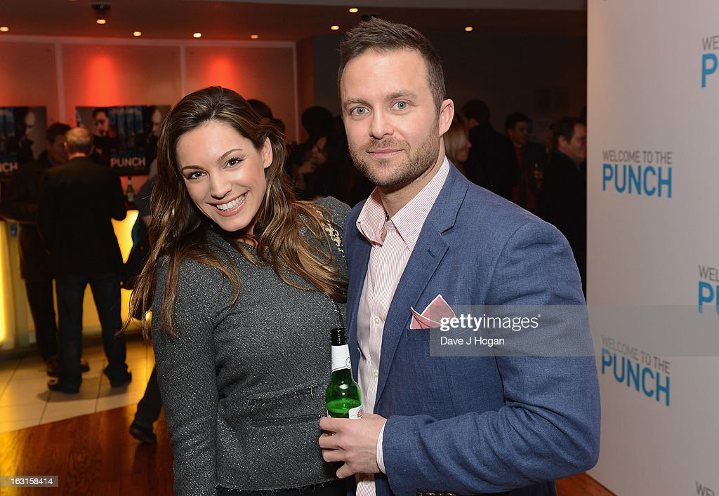 Kelly Brook and director Eran Creevy attend the 'Welcome To The Punch' UK Premiere at the Vue West End on March 5, 2013 in London, England.