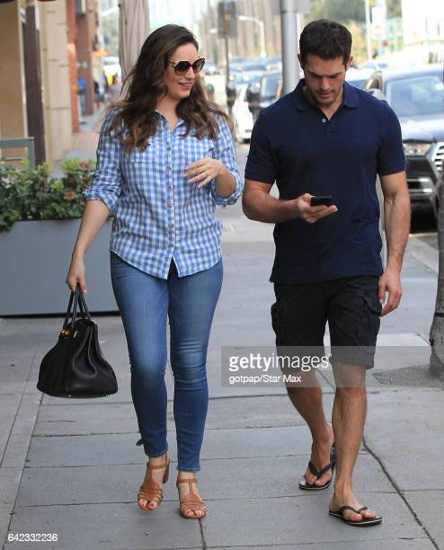 Kelly Brook and Jeremy Parisi are seen on February 16 2017 in Los Angeles CA