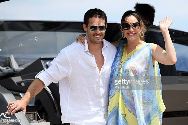 Kelly Brook and Jeremy Parisi are seen on July 16 2016 in Ischia Italy