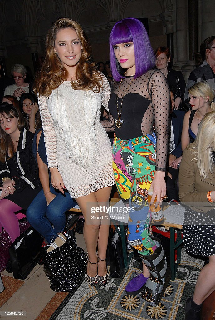 Kelly Brook and Jessie J at the Giles show at London Fashion Week Spring/Summer 2012 on September 19, 2011 in London, United Kingdom.