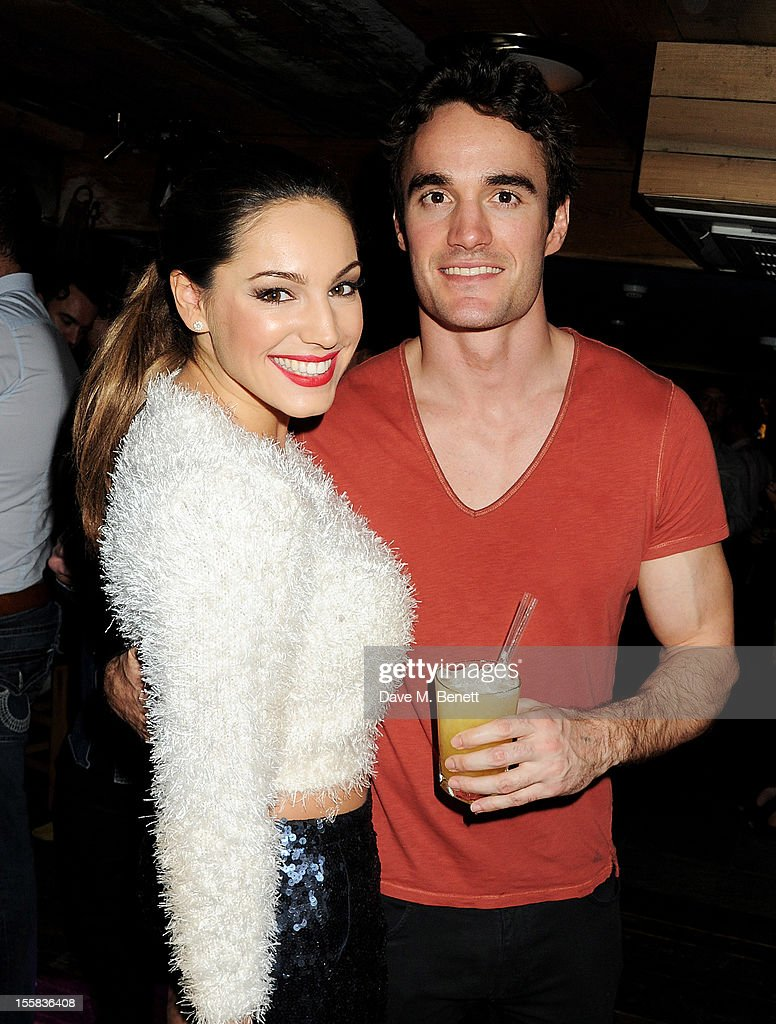 <a gi-track='captionPersonalityLinkClicked' href=/galleries/search?phrase=Kelly+Brook&family=editorial&specificpeople=206582 ng-click='$event.stopPropagation()'>Kelly Brook</a> (L) and <a gi-track='captionPersonalityLinkClicked' href=/galleries/search?phrase=Thom+Evans&family=editorial&specificpeople=825883 ng-click='$event.stopPropagation()'>Thom Evans</a> attend a party at Piers Adam's new restaurant Bodo's Schloss with <a gi-track='captionPersonalityLinkClicked' href=/galleries/search?phrase=Kelly+Brook&family=editorial&specificpeople=206582 ng-click='$event.stopPropagation()'>Kelly Brook</a> on High Street Kensington on November 8, 2012 in London, England.