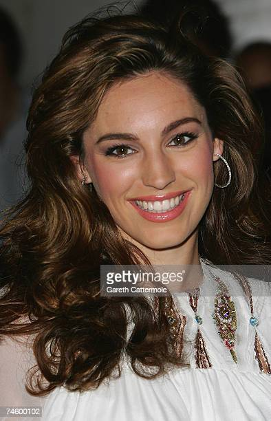 Kelly Brook arrives at Fashion TV's 10th Birthday Party at the InterContinental Hotel on June 14 2007 in London England