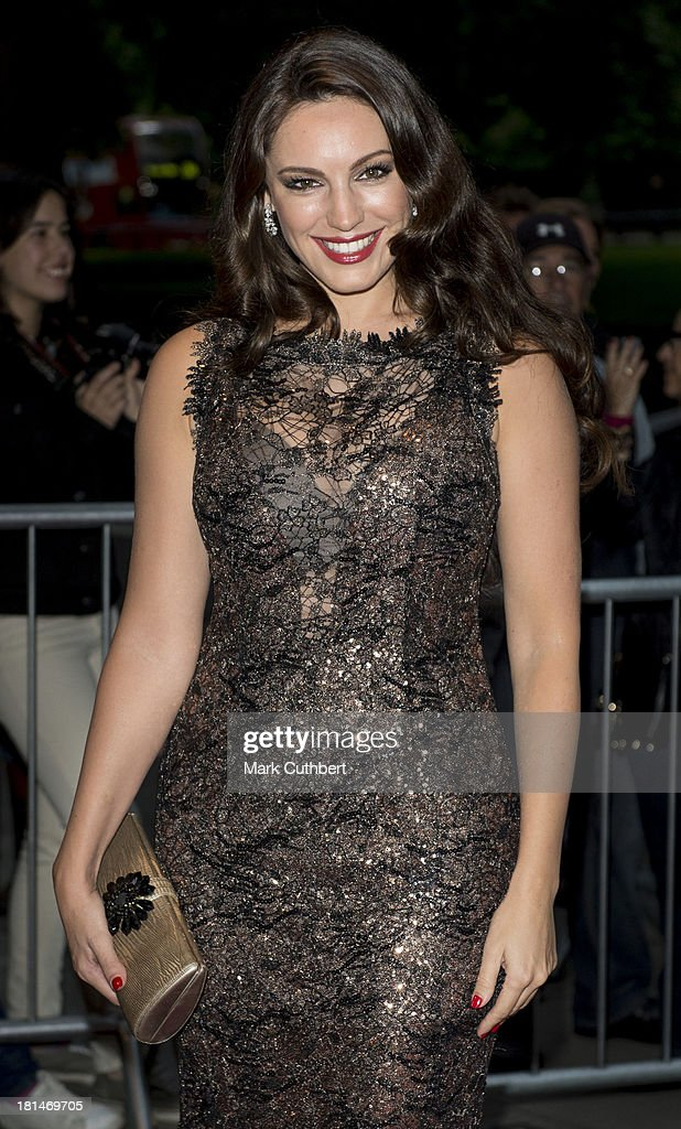 Kelly Brook arrives at The Boodles Boxing Ball at The Grosvenor House Hotel on September 21, 2013 in London, England.
