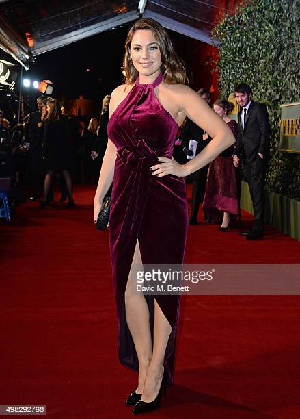 Kelly Brook arrives at The London Evening Standard Theatre Awards in partnership with The Ivy at The Old Vic Theatre on November 22 2015 in London...