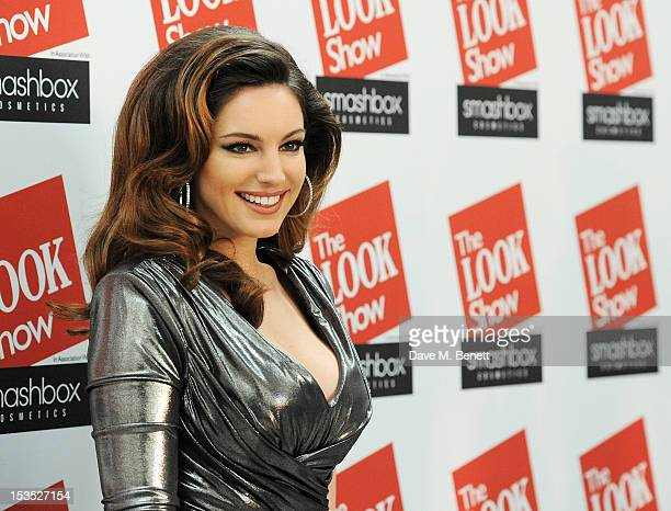 Kelly Brook arrives at The LOOK Show in association with Smashbox Cosmetics at the Royal Courts of Justice Strand on October 6 2012 in London England