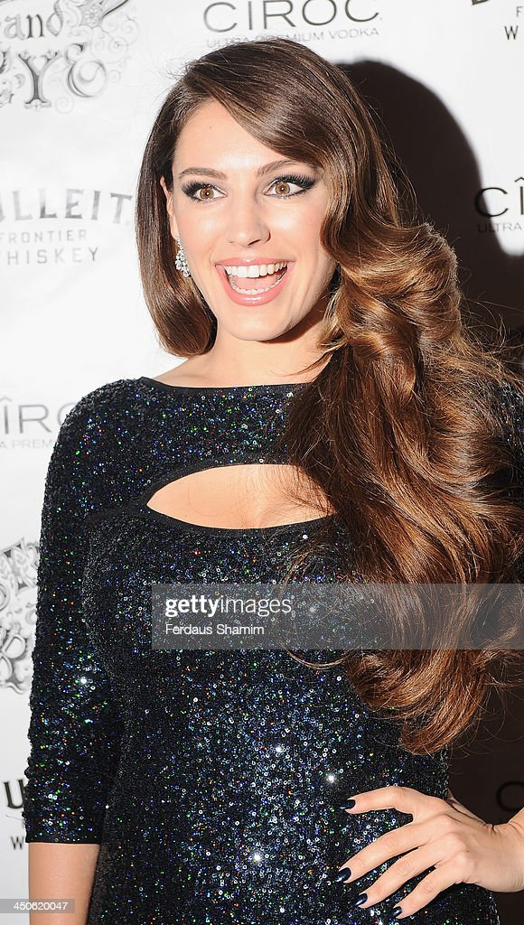 Kelly Brook arrives for the 'Steam and Rye' resturent launch party on November 19, 2013 in London, United Kingdom.