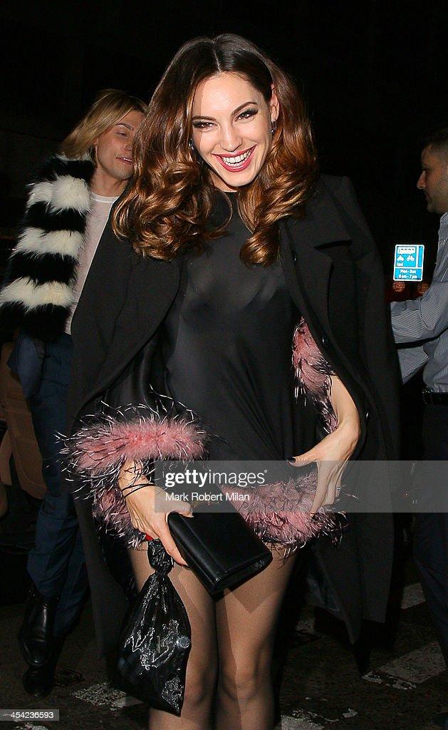 Kelly Brook arriving at Chakana night club on December 7, 2013 in London, England.