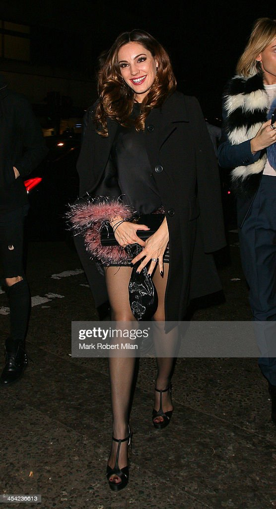 Kelly Brook arriving at Chakana night club on December 7, 2013 in London, England.