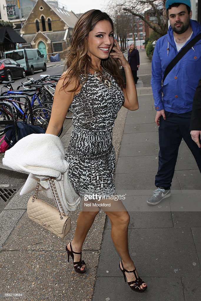Kelly Brook arriving at Riverside Studios for Celebrity Juice on March 6, 2013 in London, England.