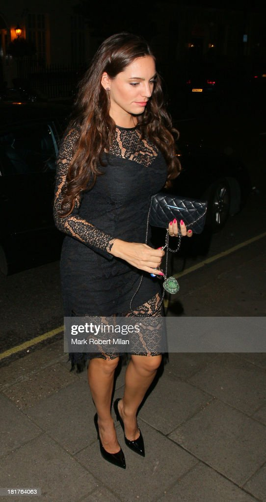 Kelly Brook at Annabel's club on September 24, 2013 in London, England.