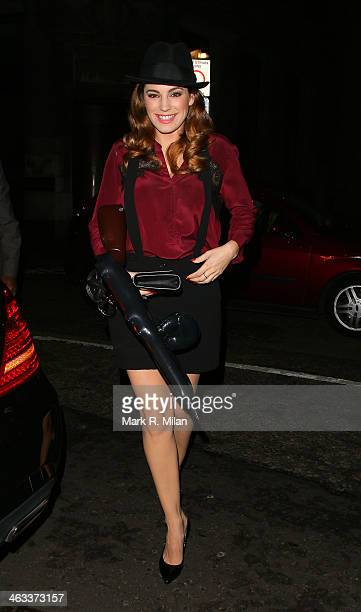 Kelly Brook at Steam and Rye restaurant and night club on January 17 2014 in London England