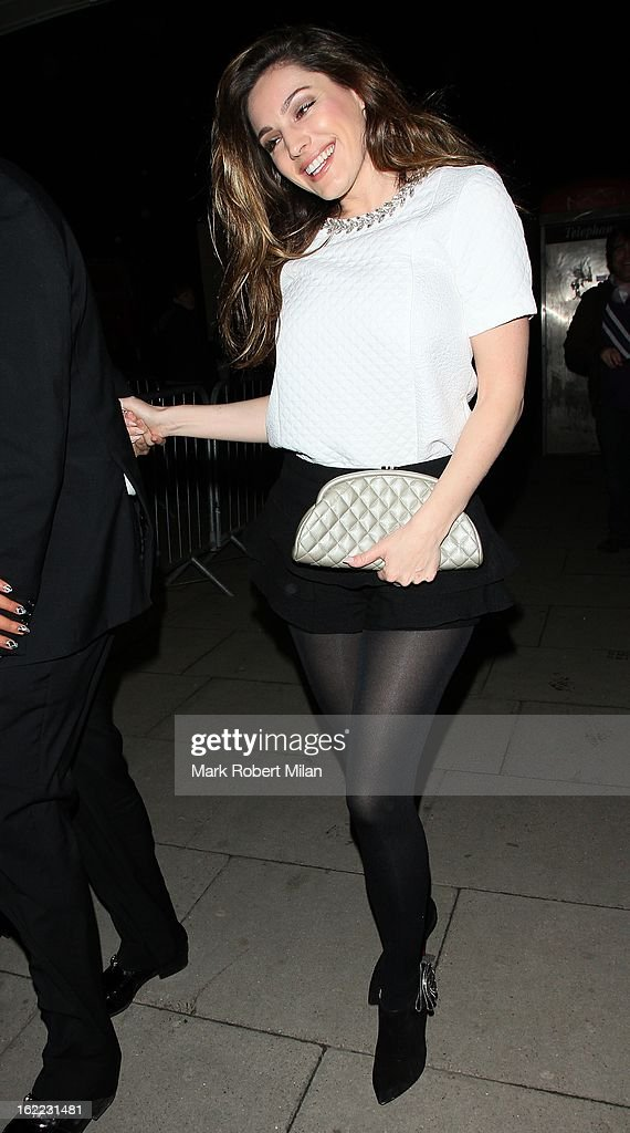 Kelly Brook at The Kentish Town forum for Justin Timberlakes live show on February 20, 2013 in London, England.