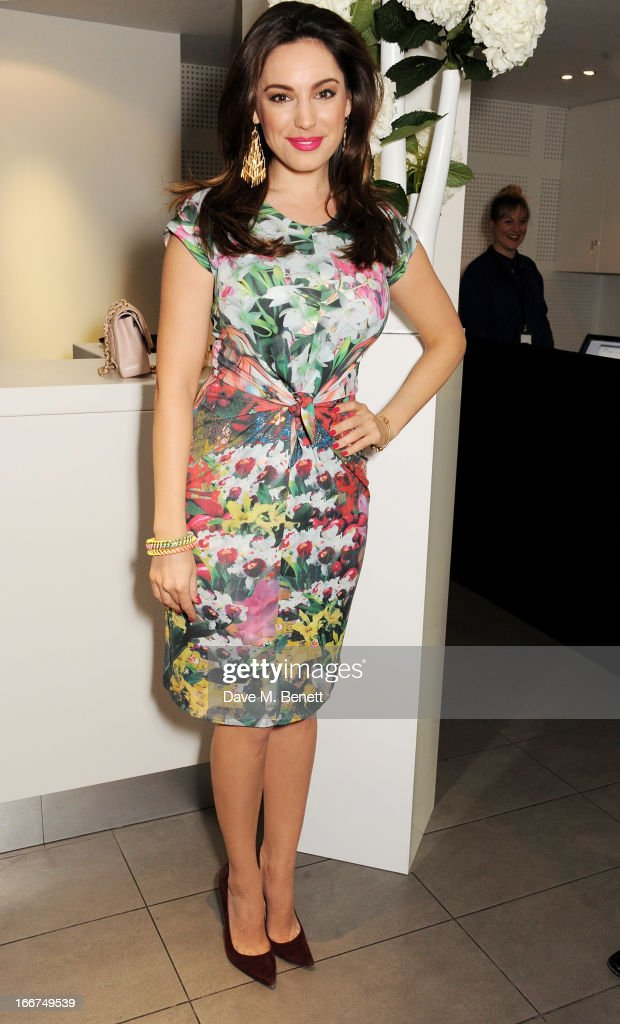 Kelly Brook attends a drink reception celebrating 'An Evening With Chickenshed', a cabaret performance in aid of inclusive theatre company Chickenshed, hosted by Jonathan Shalit at The London Television Centre on April 16, 2013 in London, England.