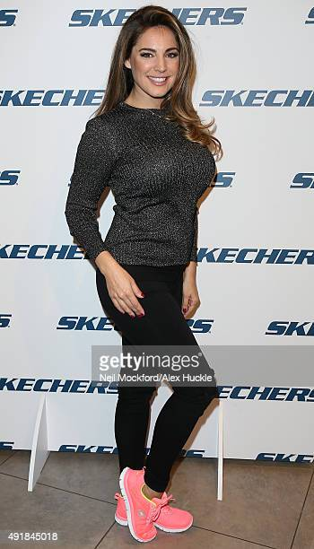 Kelly Brook attends a fan meet and greet at Schuh Marble Arch on October 8 2015 in London England