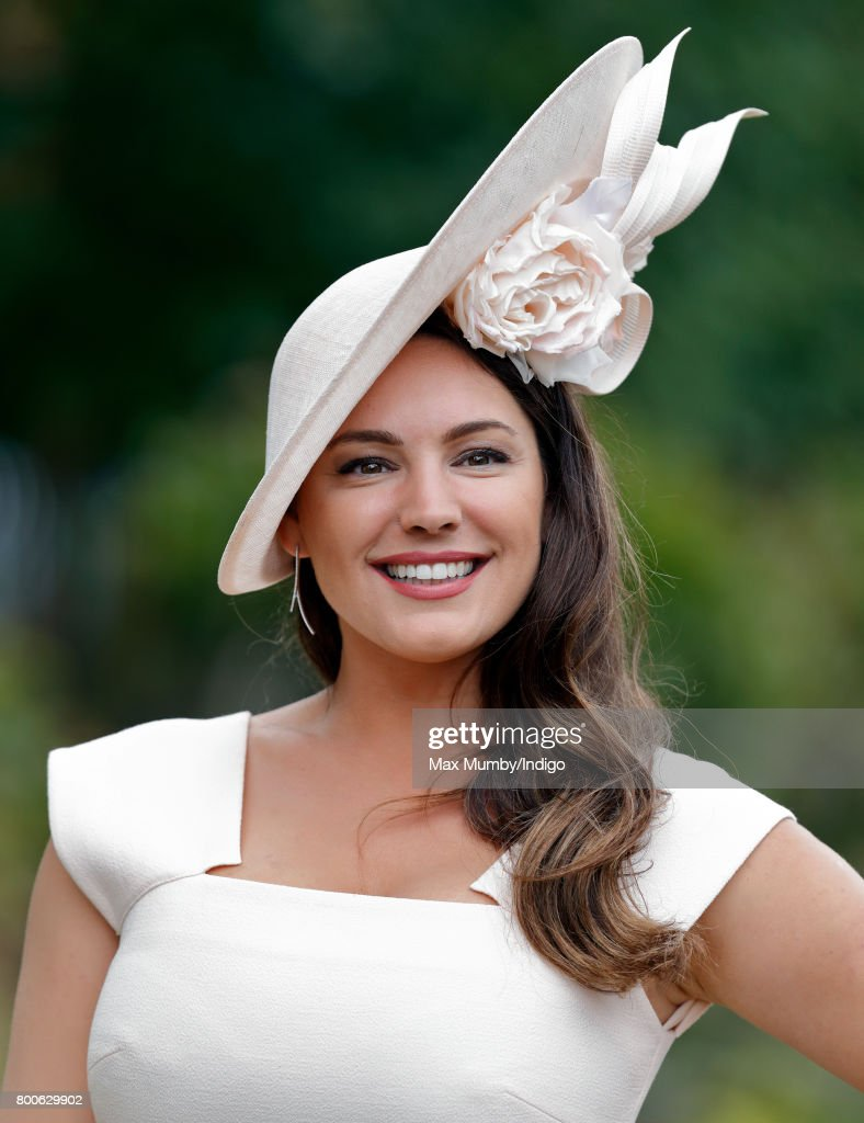 Kelly Brook attends day 5 of Royal Ascot at Ascot Racecourse on June 24, 2017 in Ascot, England.