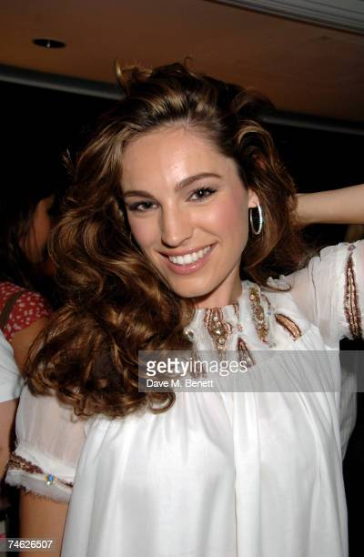 Kelly Brook attends Fashion Tv 10th birthday party at the InterContinental Hotel on June 14 2007 in London England