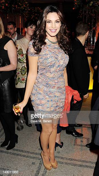 Kelly Brook attends Jonathan Shalit's 50th birthday party at The VA on April 17 2012 in London England