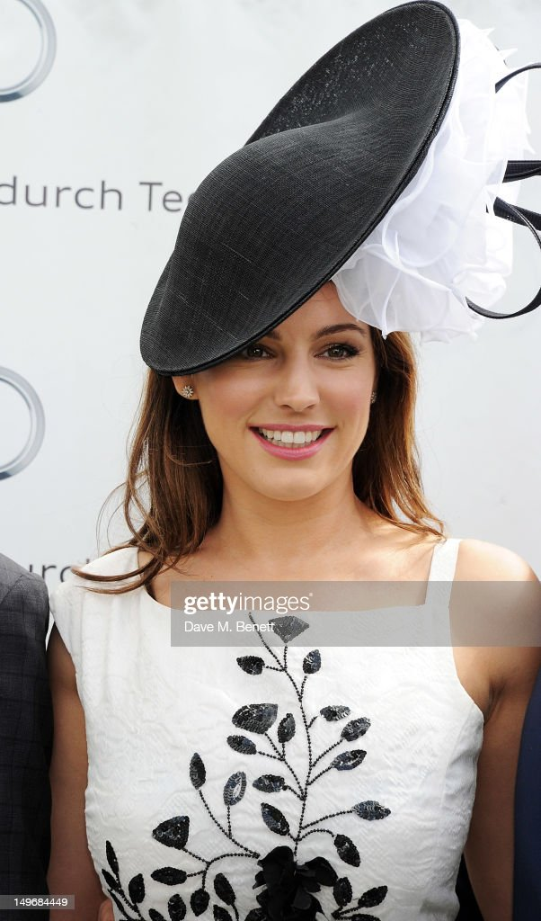 Kelly Brook attends Ladies Day at Glorious Goodwood held at Goodwood Racecourse on August 2, 2012 in Chichester, England.