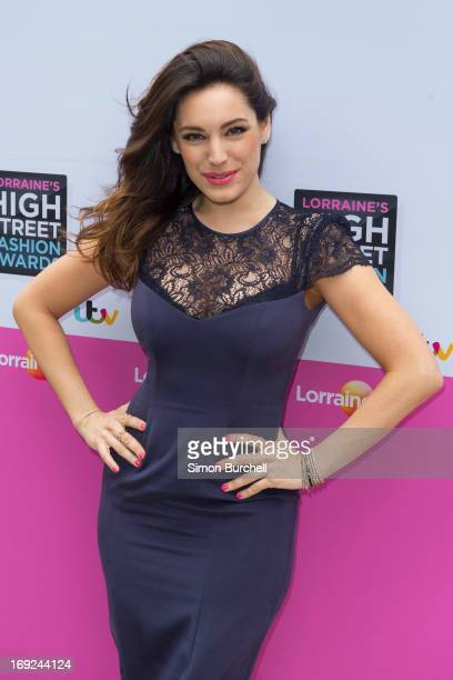 Kelly Brook attends Lorraine's High Street Fashion Awards 2013 at East Wintergarden on May 22 2013 in London England