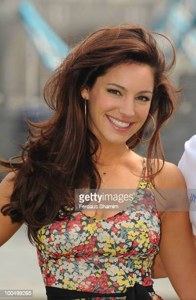 Kelly Brook attends photocall to launch the Sky Ride 2010 on May 25 2010 in London England