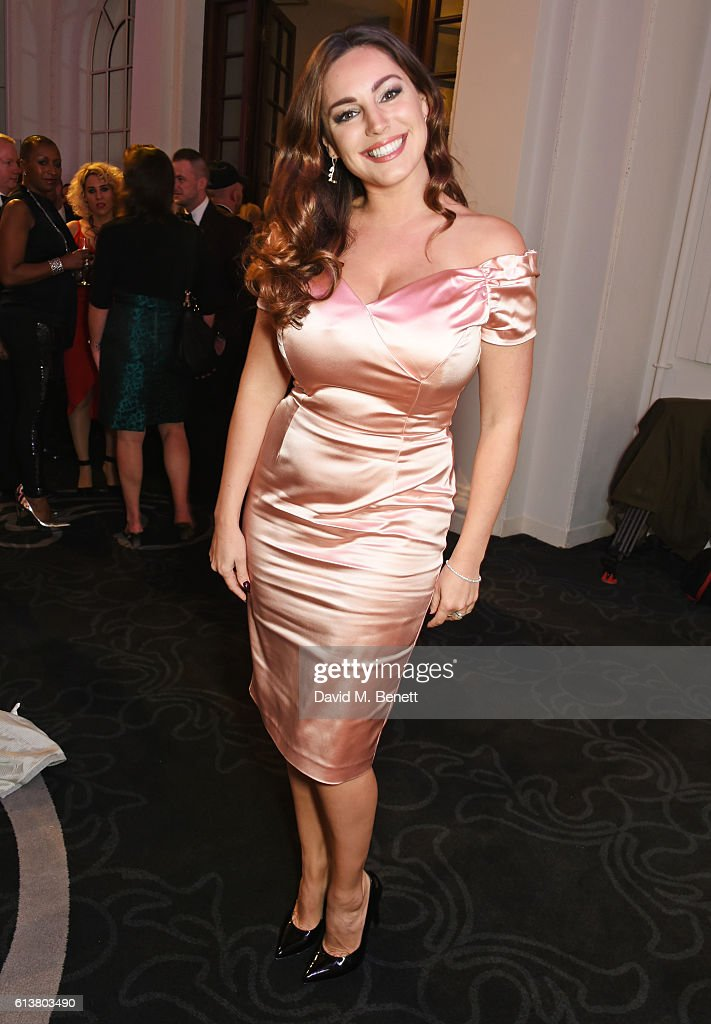 Kelly Brook attends the Attitude Awards 2016 in association with Virgin Holidays at 8 Northumberland Avenue on October 10, 2016 in London, England.