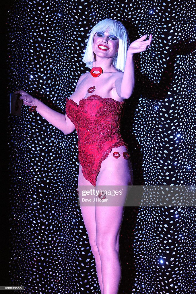Kelly Brook attends the curtain call party for Kelly Brook's final show with Crazy Horse at The Forever Crazy Spiegel Tent on November 22, 2012 in London, England.
