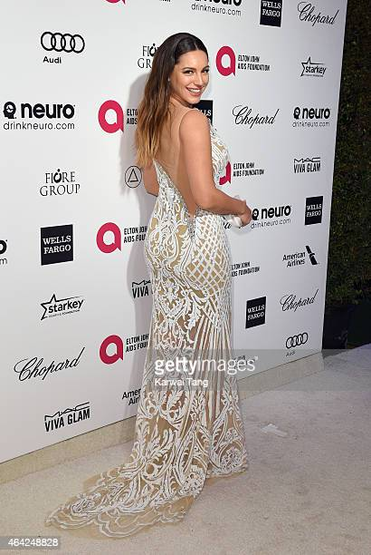 Kelly Brook attends the Elton John AIDS Foundation's 23rd annual Academy Awards Viewing Party at The City of West Hollywood Park on February 22 2015...
