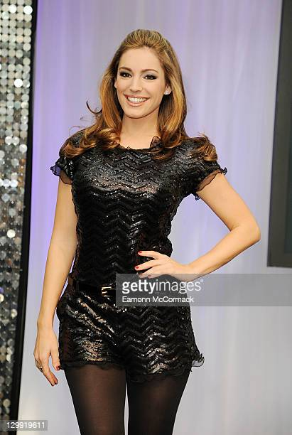 Kelly Brook attends the Kinect Dance Central 2 Launch at Westfield on October 22 2011 in London England