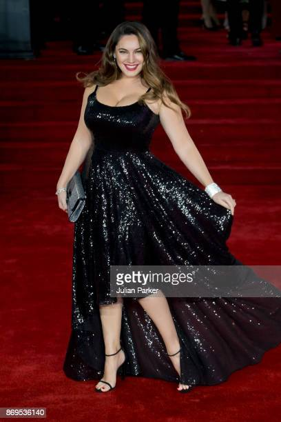 Kelly Brook attends the 'Murder On The Orient Express' World Premiere held at Royal Albert Hall on November 2 2017 in London England