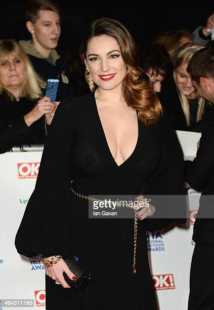 Kelly Brook attends the National Television Awards at 02 Arena on January 22 2014 in London England