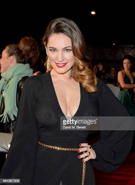 Kelly Brook attends the National Television Awards at the 02 Arena on January 22 2014 in London England