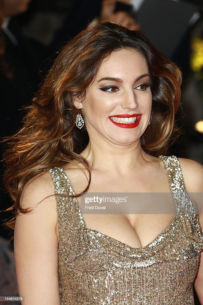 Kelly Brook attends the Royal World Premiere of 'Skyfall' at Royal Albert Hall on October 23, 2012 in London, England.