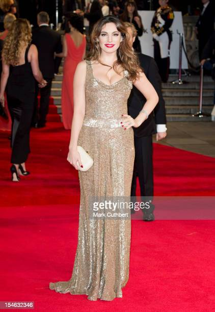 Kelly Brook attends the Royal World Premiere of 'Skyfall' at Royal Albert Hall on October 23 2012 in London England