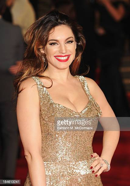 Kelly Brook attends the Royal World Premiere of 'Skyfall' at the Royal Albert Hall on October 23 2012 in London England
