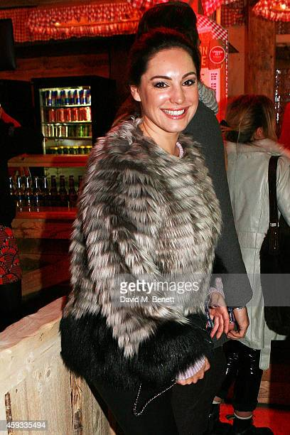 Kelly Brook attends the Winter Wonderland VIP opening at Hyde Park on November 20 2014 in London England