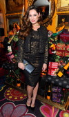 Kelly Brook attends Veuve Clicquot Style Party at Annabel's on November 26 2013 in London England