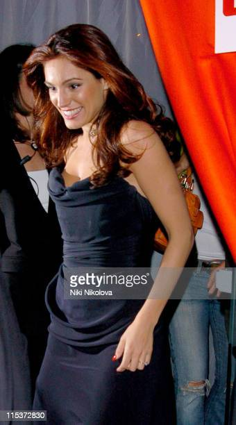 Kelly Brook during 2005 FHM Sexiest Women Party Arrivals at Umbaba in London Great Britain