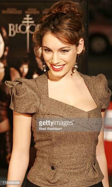 Kelly Brook during 'BloodRayne' Los Angeles Premiere Arrivals at Mann's Chinese in Hollywood California United States