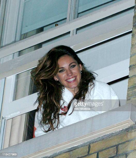 Kelly Brook during Kelly Brook and Billy Zane Sighting at Charlotte Street Hotel May 2 2006 in London Great Britain