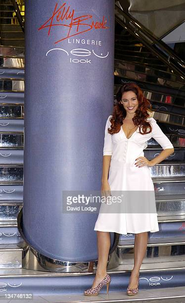 Kelly Brook during Kelly Brook Launches her New Lingerie Range for New Look Photocall at New Look in London Great Britain