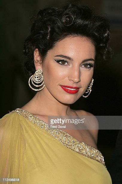 Kelly Brook during The British Fashion Awards 2006 at V A in London United Kingdom